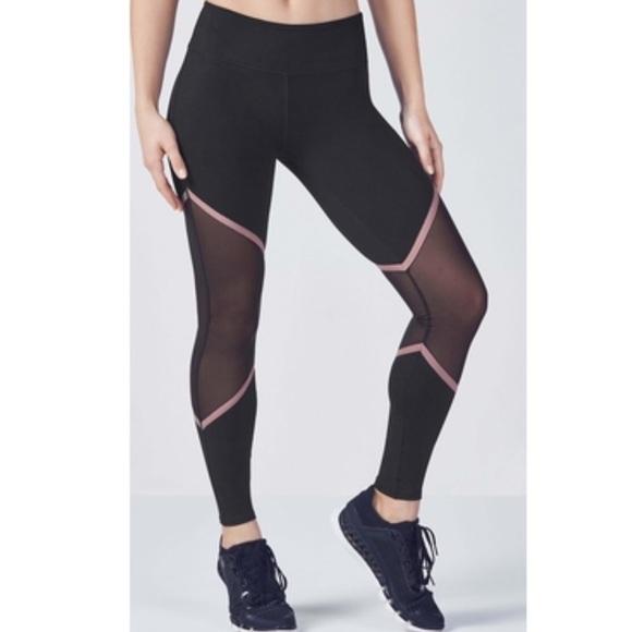 cebd69d6d06c47 Fabletics Pants | Nwot Mesh Brogan Reflective Leggings Sm | Poshmark